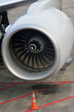 Aircraft jet engine Stock Images