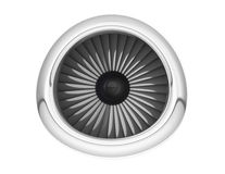 Aircraft Jet Engine. 3d Rendering. Aircraft Jet Engine on a white background. 3d Rendering Stock Images