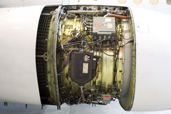 Aircraft jet engine detail Royalty Free Stock Images