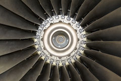 Aircraft jet engine detail Royalty Free Stock Image