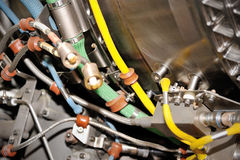 Aircraft jet engine detail Royalty Free Stock Photos