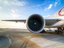Aircraft Jet Engine. Engineering marvel - the jet engine Stock Images