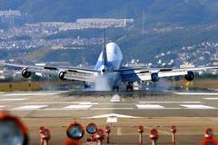 Aircraft Landing. At Osaka Airport, Japan Royalty Free Stock Images