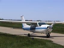 Aircraft Landing. Single engine light aircraft landing stock photos