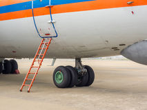 Aircraft landing gear Royalty Free Stock Image