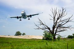 Aircraft landing gear, ready for planting Royalty Free Stock Photography