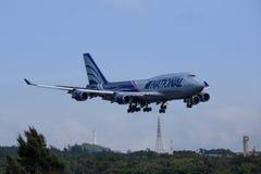 Aircraft landing at Okinawa Royalty Free Stock Photos