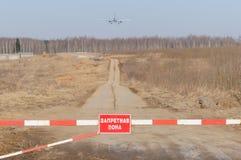 Aircraft landing Stock Photo