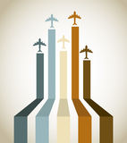 Aircraft line. Over vintage background vector illustration royalty free illustration