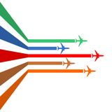 Aircraft line. On white background vector illustration