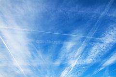 Aircraft lines Royalty Free Stock Images