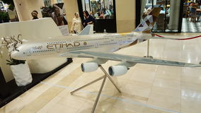 Aircraft Livery Etihad A380 Model Royalty Free Stock Photography