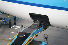 Aircraft loading conveyor Royalty Free Stock Image