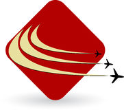 Aircraft logo. Illustration art of a aircraft logo with white background Royalty Free Stock Photography