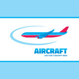 Aircraft -  logo concept illustration. Vector logo template. Royalty Free Stock Photos