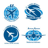 Aircraft logo vector emblems set Stock Photos
