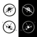 Aircraft Logo Vector Illustration Stock Images