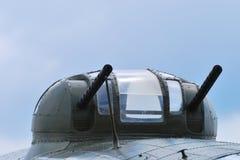 Aircraft machine gun turret. Aircraft turret with machine guns royalty free stock photography