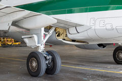 Aircraft Main Gear Royalty Free Stock Photo