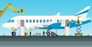 Aircraft maintenance engineer Stock Images
