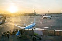 Aircraft maintenance Stock Photography