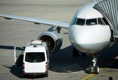 Aircraft maintenance. Royalty Free Stock Photography