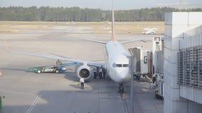 Aircraft maintenance stock footage