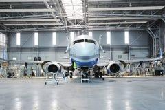 Aircraft. During maintenance work in hangar Royalty Free Stock Photo