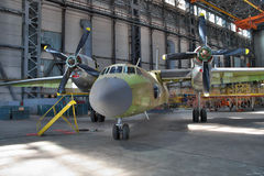 Aircraft manufacturing hangar Stock Photos