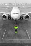 Aircraft marshaller Stock Image