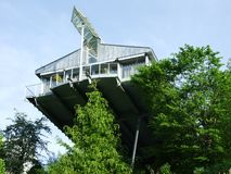 Aircraft metal house in Herisau stock image