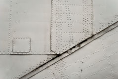 Aircraft metal with rivets Royalty Free Stock Photography