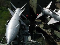 Aircraft missiles. Two aircraft missiles of the war plane Stock Image