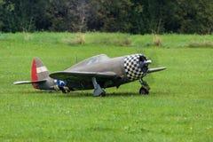 Aircraft - Model Aircraft - low wing aerobatics. Aerobatic aircraft on a model air show Royalty Free Stock Images