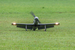 Aircraft - Model Aircraft - low wing aerobatics. Aerobatic aircraft on a flight show Stock Photo