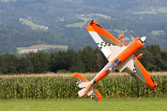 Aircraft - Model Aircraft - low wing aerobatics Royalty Free Stock Image