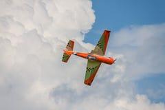 Aircraft - Model Aircraft - low wing aerobatics Royalty Free Stock Photography