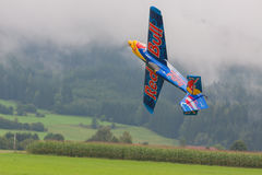 Aircraft - Model Aircraft - low wing aerobatics - Red Bull Royalty Free Stock Images