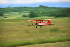 Aircraft model flying Royalty Free Stock Images