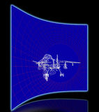 Aircraft Model In Wind Tunnel Stock Image