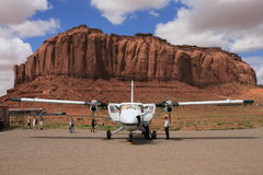 Aircraft at Monument Valley airport Royalty Free Stock Images