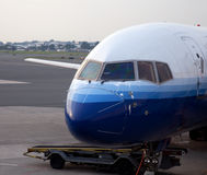 Aircraft nose at gate Stock Photography