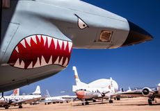Free Aircraft Nose With Shark`s Teeth Stock Images - 152492154