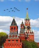 Aircraft over the Kremlin Stock Image
