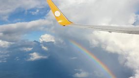 The aircraft over the rainbow stock video