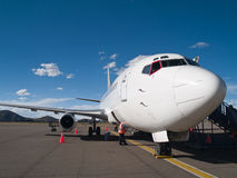Aircraft parked at the airport Royalty Free Stock Photography