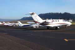 Aircraft parked, Troutdale OR. Royalty Free Stock Images