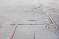 Aircraft parking areas  airports Stock Photo