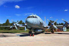 Aircraft in the parking lot Royalty Free Stock Image