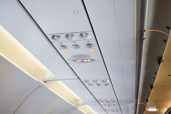 Aircraft passenger console overhead Stock Photography
